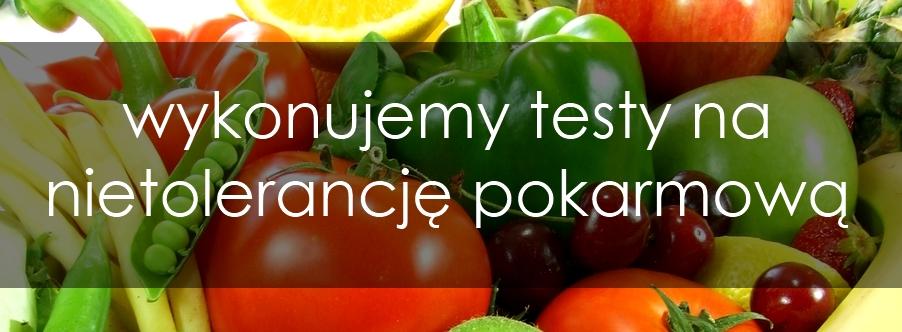 testy na nietolerancje pokarmowa
